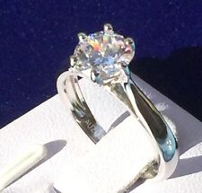 Engagement Wedding Ring/ 1.25ct simulated diamond 925 Sterling silver Women Ring
