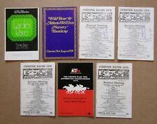 7 X Chester racecards datant de 1974 To 1976
