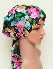 Satin bonnet, full head covering, long hair scarf, head scarf, satin tichel