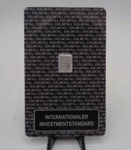 Platinrbarren, Platinum 1g internationaler Investmentstandard ESG Combibar OVP