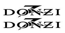 "PAIR OF 5""X24"" DONZI BOAT HULL DECALS. MARINE GRADE. YOUR COLOR CHOICE 155"