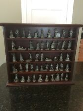 Franklin Mint Saturday Evening Post Pewter Figure Set Parade of American People
