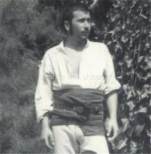 VINTAGE PHOTO:YOUNG MEN in WHITE w LG SASHES Outdoors EXPOSED BULGE Gay Interest