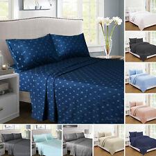 Micro Flannel Flannelette Sheet Set - Plain or Prints