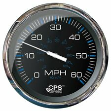 """Faria 5"""" Speedometer (60 MPH) GPS (Studded) Chesapeake Black w/Stainless Stee..."""