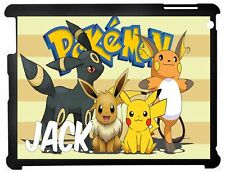 Personalised Pokemon Kids Apple Ipad case 2/3/4 & Mini 1/2/3 Mini 4/5 2019