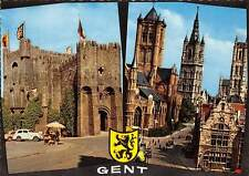 Belgium Souvenir de Gand Gent, Chateau Castle Church Eglise Voitures Cars