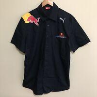Red Bull Racing F1 Formula One Team PUMA Official Button Shirt Blue Mens XL