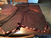 City Triangles Brown Cocktail Dress Strapless Size M NWT Womens