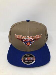 New Era NBA New York Knicks - Khaki Blue Orange - 9FIFTY Snapback Hat Cap