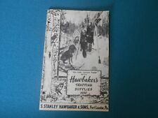 VINTAGE HAWBAKER TRAPPING SUPPLIES CATALOG 1950 S. STANLEY & SON, TRAPS TRAPPING