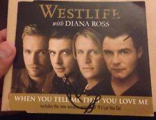 KIAN EGAN & SHANE FILAN SIGNED WESTLIFE WHEN YOU TELL ME THAT LOVE ME CD SINGLE