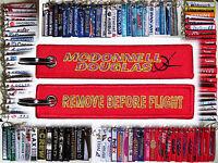 Keyring McDonnell Douglas Company Remove Before Flight tag keychain pilot