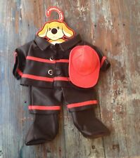 FAO SCHWARZ PATRICK THE PUP PUPPY DOG PLUSH DRESSABLE FIREMAN COSTUME, NEW