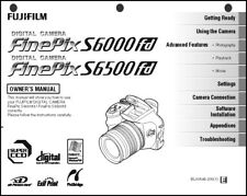 FujiFilm FinePix S6000 FD S6500 FD Digital Camera User Guide Instruction  Manual