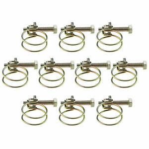 10Pcs 40mm Wire Grip Screw Tight Pond Pump Hose Pipe Clip Bolt Tube Clamp