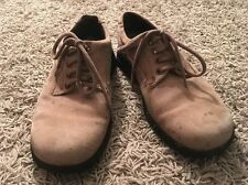 ECCO Suede-leather Lace-up Casual Stitched Oxford Mens Shoes, Size 40 US 7-7.5