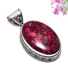 Edulite Gemstone 925 Sterling Silver Vintage Pendant Jewelry 1.57 Inch 5566