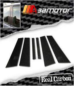 Carbon Fibre Door B Pillar Panel Cover 6PC fits 04-11 BMW E87 1-Series Hatchback