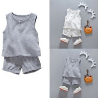 Toddler Infant Kids Baby Boy Summer 2PCS T-shirt Tops+Shorts Outfits Clothes Set