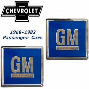 68-82 Door GM Decal BLUE 3M ALL Chevrolet Cars PAIR Reproduction OEM V8 LS Chevy