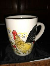 Paula Deen SOUTHERN ROOSTER Coffee Mug Hand Painted Dishwasher