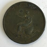 Antique George III 1799 Copper Half Penny Coin