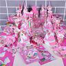 Niños unicornio Temática Fiesta Cumpleaños Suministros DETALLE Vajilla Pancarta