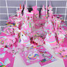 Kids Unicorn Theme Birthday Party Supplies Favor Tableware Banner Decor Gift