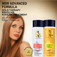Gold Therapy Pure Brazilian Keratin Hair Straightening Treatment Blow Dry 100 ml