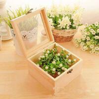 Natürliche Holzbox, Holzkiste, Aufbewahrungsbox, Holzschachtel mit Deckel