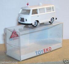 MICRO TOY EKO TOYEKO HO 1/86 1/87 MADE SPAIN FORD FK 1000 AMBULANCE REF 2029 BOX