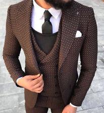 d278637d3 ... Hugo Boss Angelico Parma Anzug Herrenanzug Hose Jacket dunkelbraun Gr.  56 · DESIGNER BUSINESS BRAUN SCHWARZ KARIERT HERRENANZUG SAKKO HOSE WESTE  ...