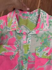 Lilly Pulitzer Shirt/Cover Up Xs