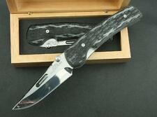 ROCKSTEAD High Quality Folding Knife D2 Blade Full Micarta Handle DF12