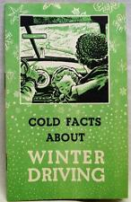 AETNA INSURANCE COMPANY AUTOMOBILE WINTER CAR DRIVING BROCHURE 1950s VINTAGE