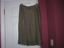 Woman's Top and skirt set dark brown Jones New York Style & Co NWT