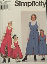 HTF BUTTERICK 8292 Mother/Child Jumper & Petticoat PATTERN MS 8-24~Girls 3-8 UC