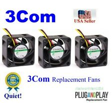 Lot 3x Replacement Fans for 3Com Switch 4200G Low Noise