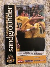 Southport v Exeter City - Nationwide Conference 2006/07 Programme