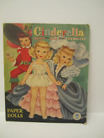 '62 MERRILL 1547 Vintage Cinderella JACK & JILL Story Favorites Paper Dolls Doll