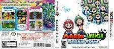 Mario and Luigi Dream Team Nintendo 3DS Reproduction Cover Art (No Game, No Box)