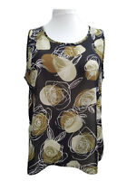 Ladies Plus size  Crepe Floral Summer Starter Tunic Top Sizes 18/20 to 34/36 NEW