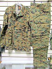NWOT Genuine Issue MCCUU Digital Woodland MARPAT Blouse & Trouser Set MR USMC