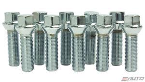 10x 45mm ICHIBA 14x1.5 M14 P1.5 WHEEL RIM EXTEND LONG LUG BOLT TAPER SILVER a