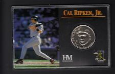 Cal Ripken Jr 2001 Highland Mint Solid Nickel Silver Coin in Holder