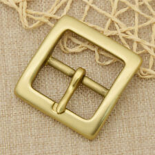 1x Polished Solid Brass Belt Buckle For 1.5inch Wide Belt Replacement New