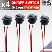 4 Pack Heavy Duty Onoff Pre Wired Switch 2 Pin Toggle Rocker Push Button Spst