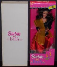 BARBIE IN INDIA DOLL IN GOLD, BLACK, AND RED SAREE LEO MATTEL 9910