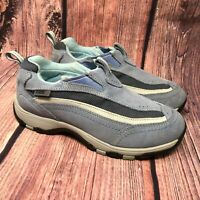 LL Bean Tek 2.5 Women's Blue Suede Mesh Slip On Waterproof Hiking Shoes Size 8